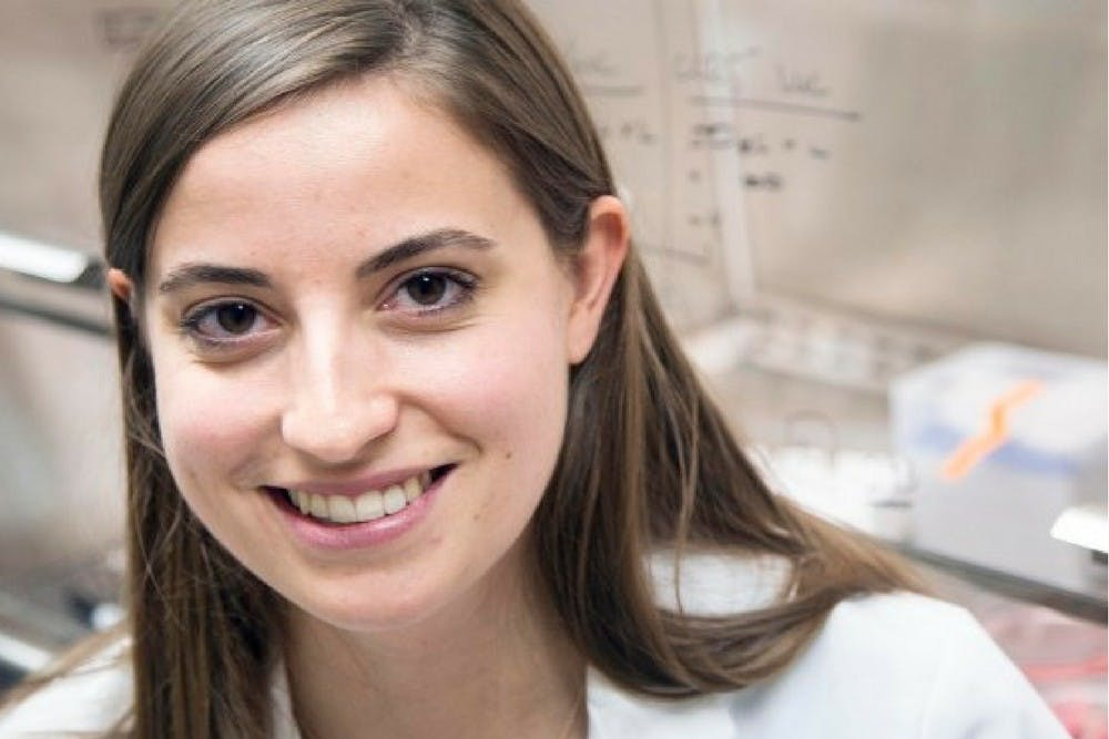 <p>Kristen Batich, a graduate in the medical scientist training program, was the lead author in a study that has developed a new treatment for glioblastoma.</p>