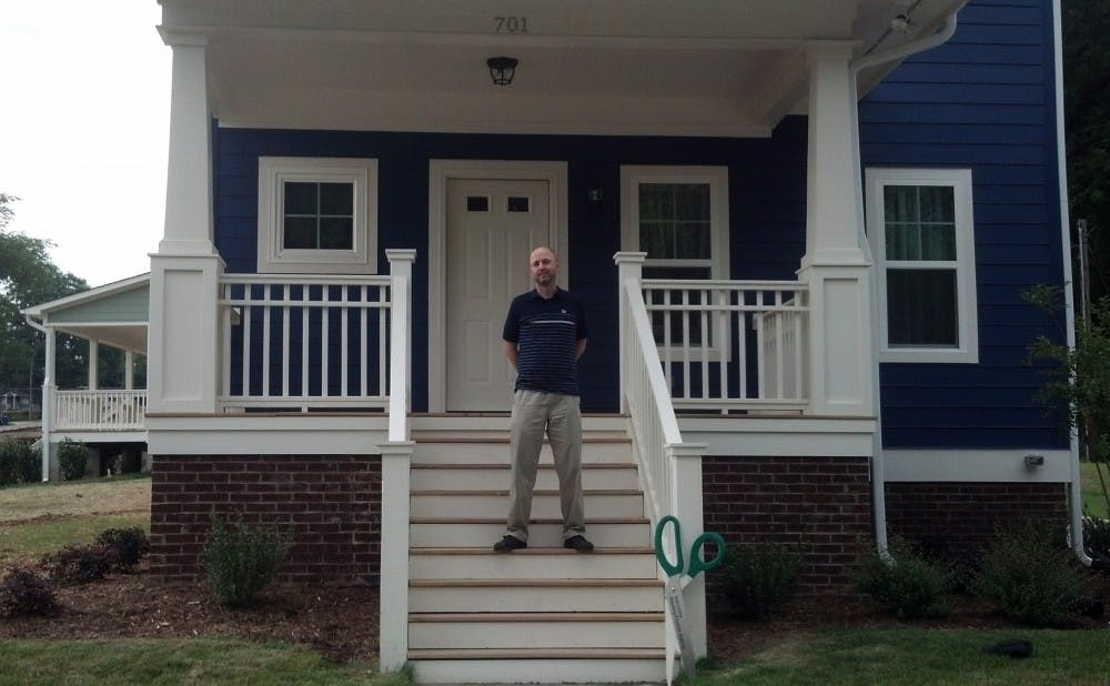 David Steinbrenner, pictured above, is the first Duke employee to take advantage of the University's Southside housing incentive.