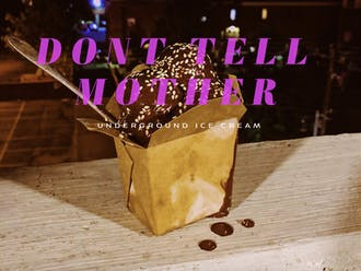 Don't Tell Mother is an underground ice cream venture started by pastry chef Logan Atkinson.