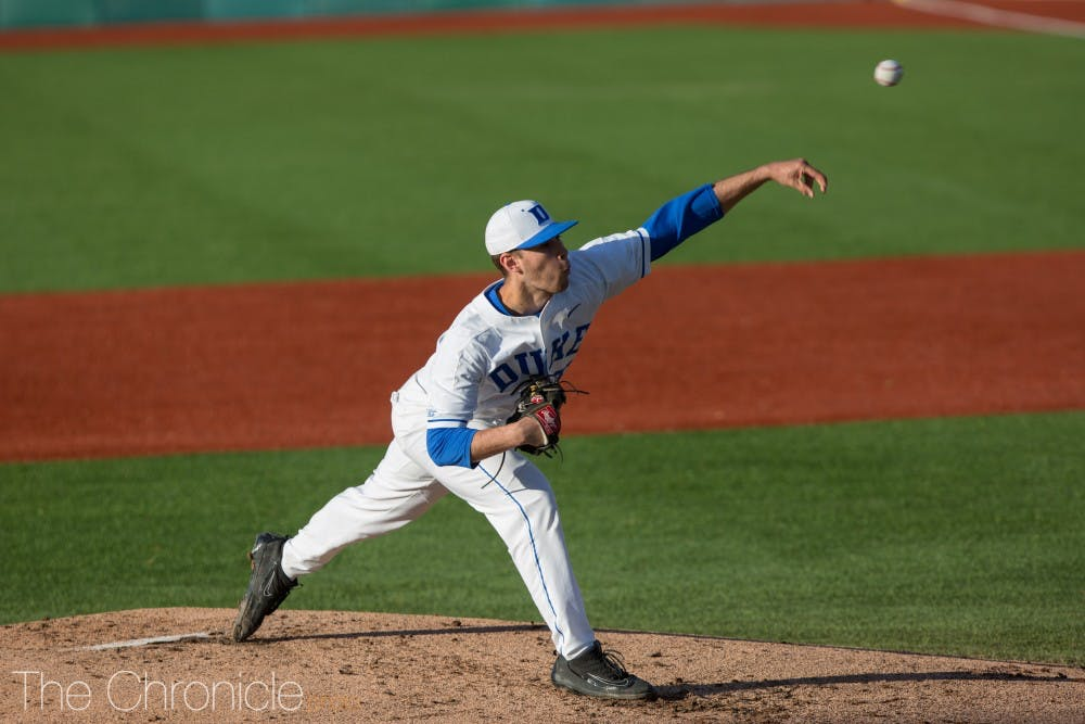 <p>Adam Laskey returned for the first time this season against Wake Forest.</p>