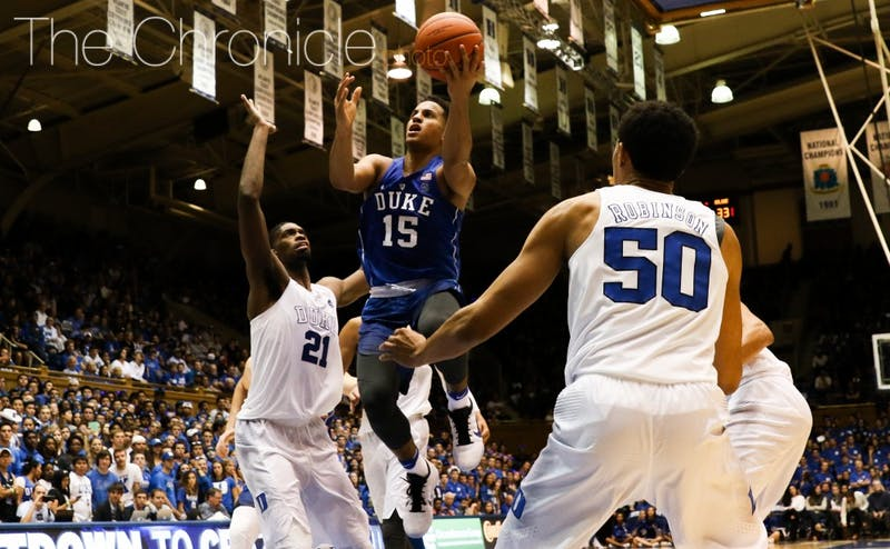 Freshman Frank Jackson was one of the stars Saturday night during Countdown to Craziness.