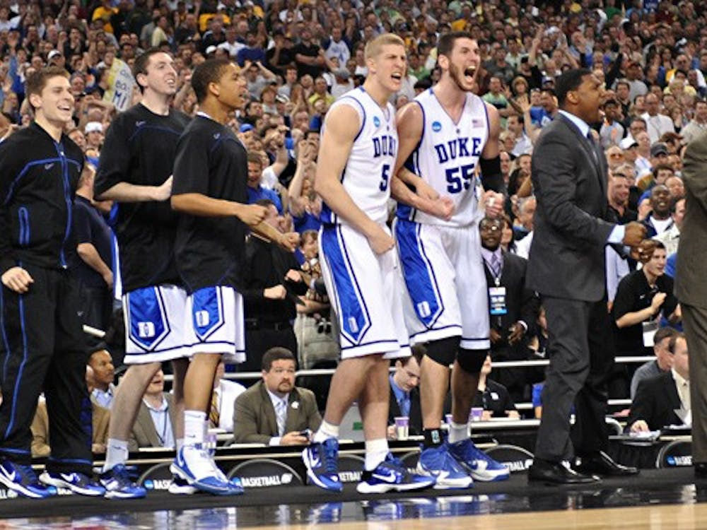 Duke, shown here celebrating after its win over Baylor, found a unique identity as its season progressed, senior Ben Cohen writes.