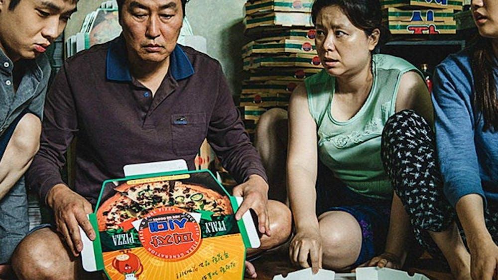 """""""Parasite"""" follows the financially-struggling Kim family."""