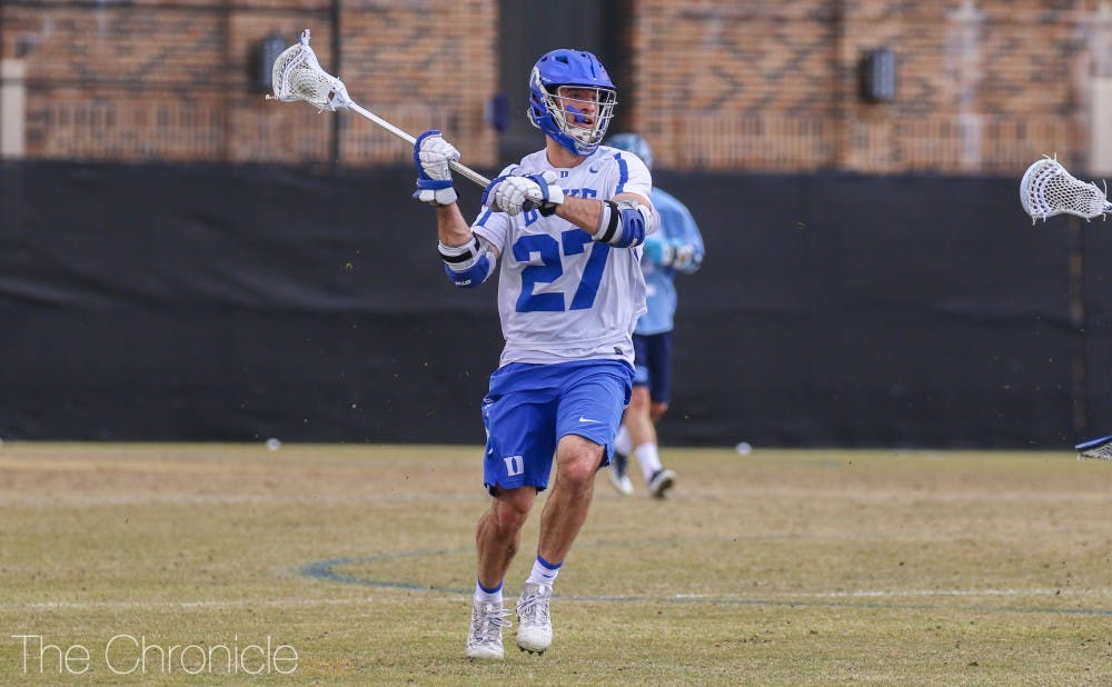 <p>Brad Smith added three goals for Duke Saturday.</p>