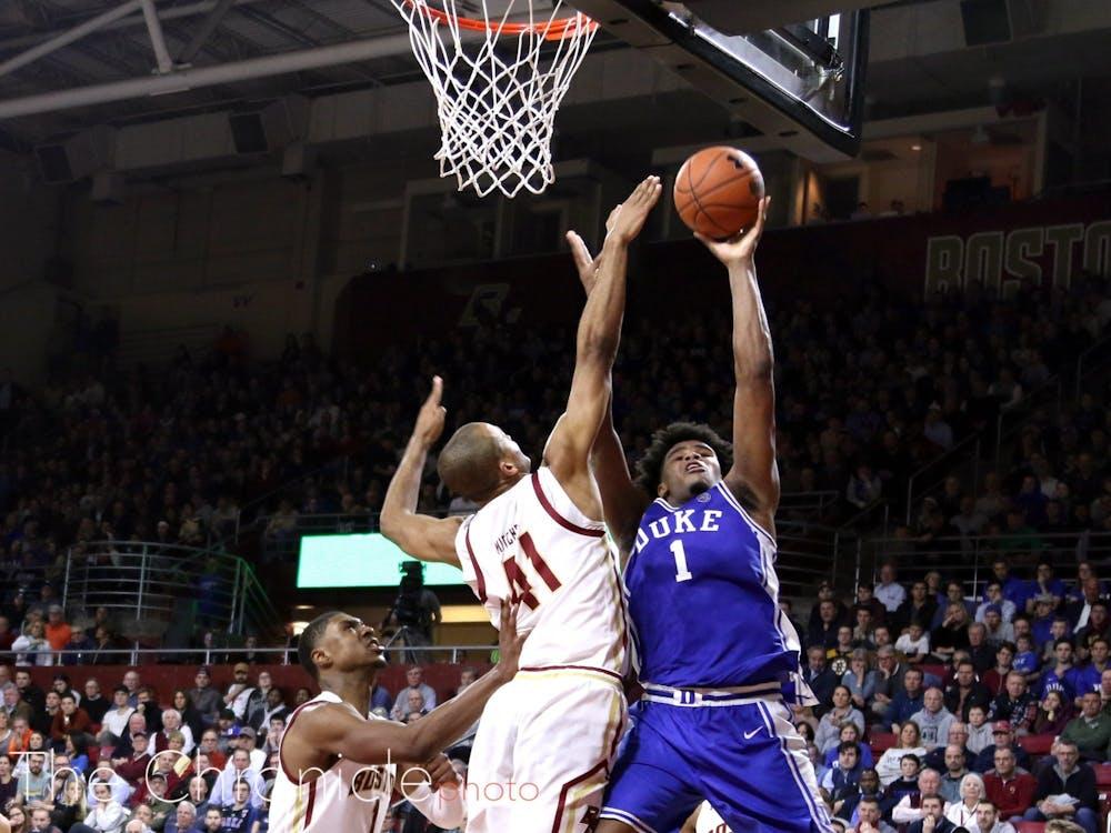 <p>Vernon Carey Jr.'s inside presence will be key for Duke.</p>