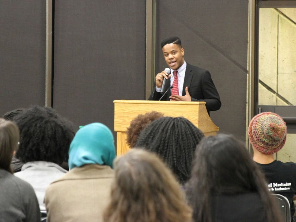 Martese Johnson, a senior at Virginia, reflected on his experience as a black student at the university.