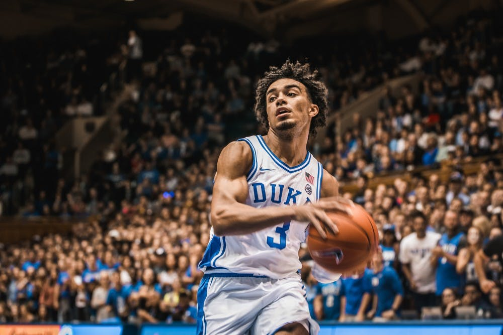 <p>Coach K is relying on Tre Jones to be a force offensively this season.</p>