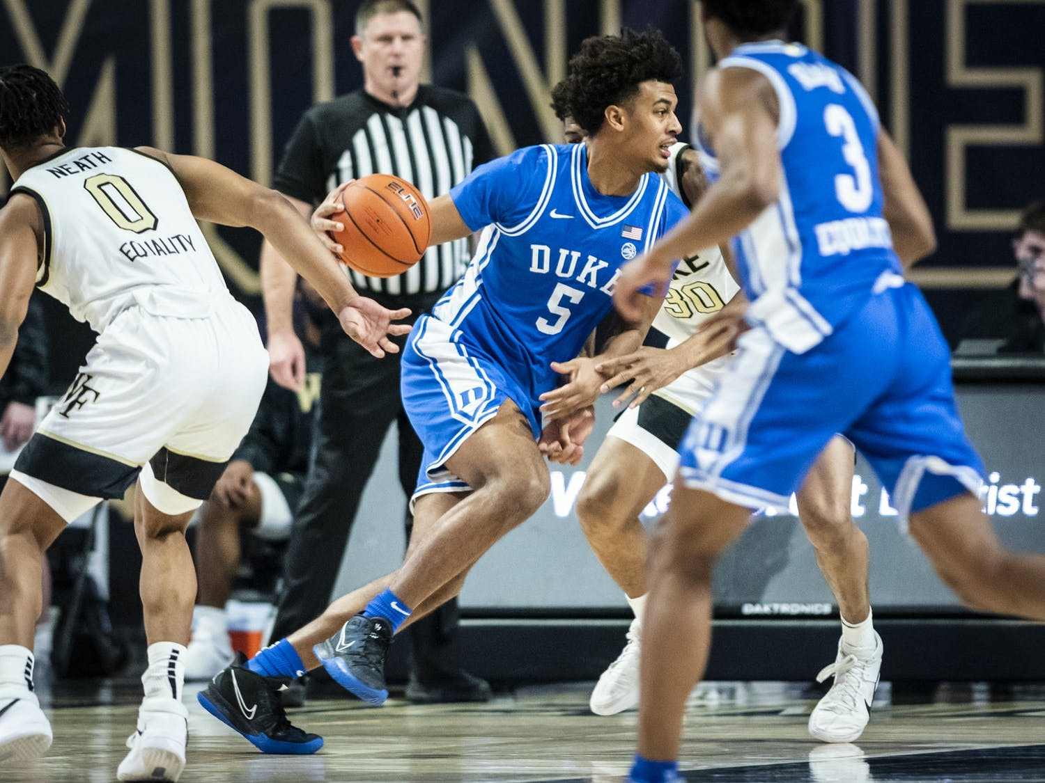 The Blue Devils received major energy boosts from Jaemyn Brakefield and other reserves Wednesday.
