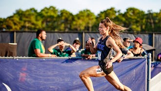 Brittany Aveni became the first Blue Devil to qualify for NCAAs in three different outdoor events.