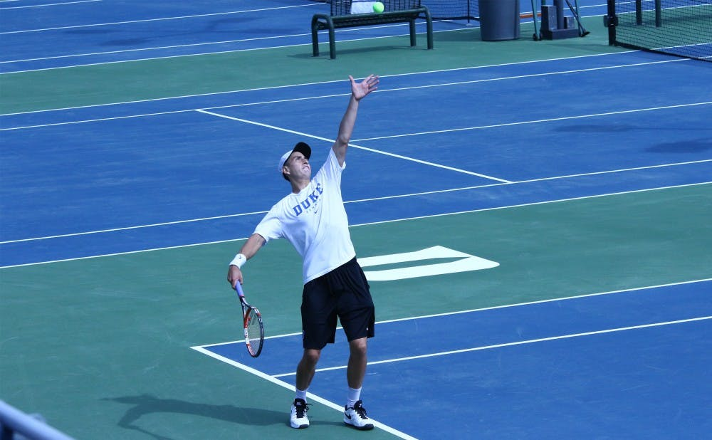 <p>Sophomore&nbsp;Nicolas Alvarez leads Duke into two critical ACC matches this weekend.</p>