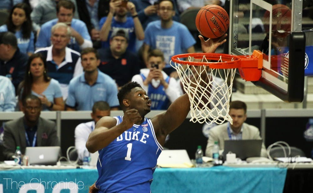 <p>Zion Williamson spent more time in the stratosphere than any other player this season.</p>