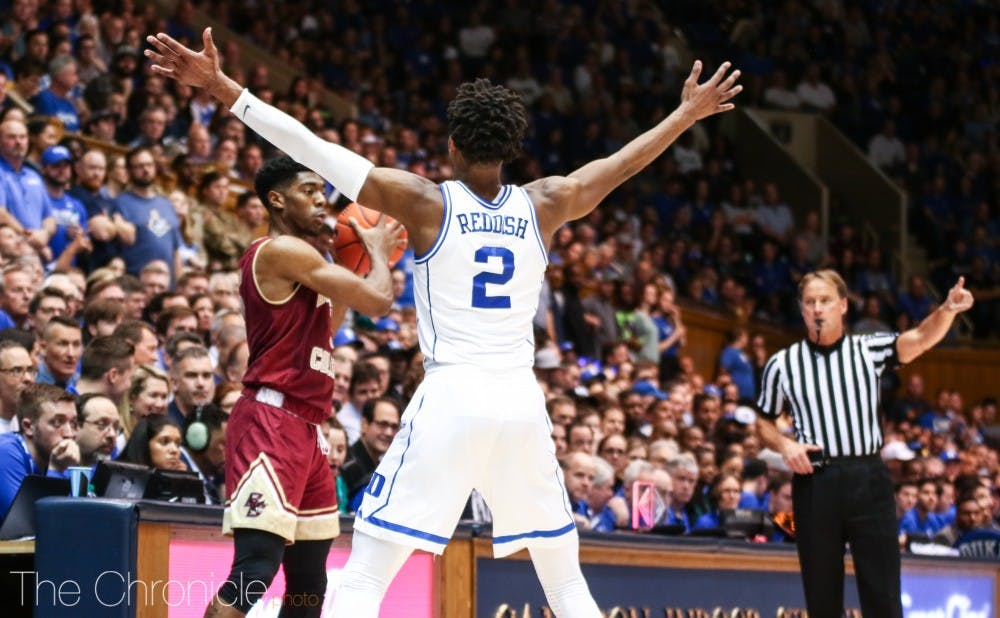 <p>Cam Reddish will have to play tight, hands-off defense to pressure the ball without getting called for unnecessary fouls.</p>