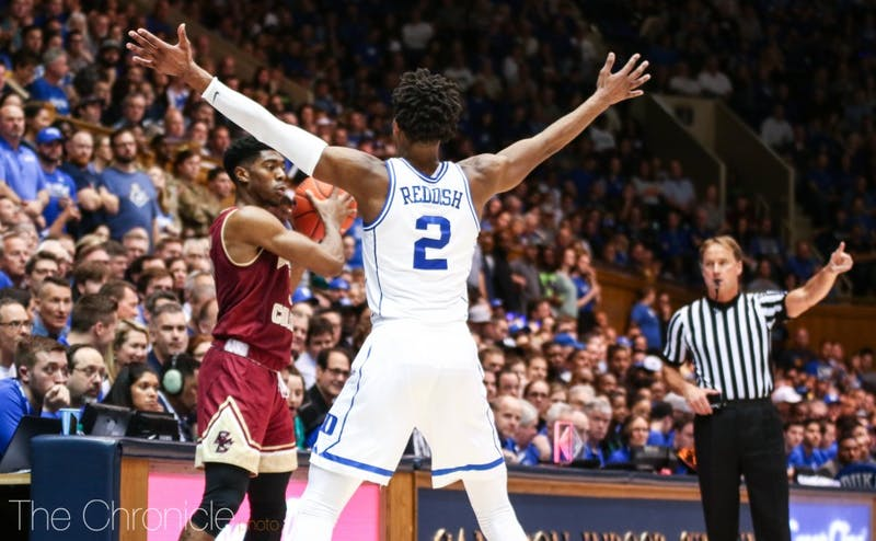 Cam Reddish will have to play tight, hands-off defense to pressure the ball without getting called for unnecessary fouls.
