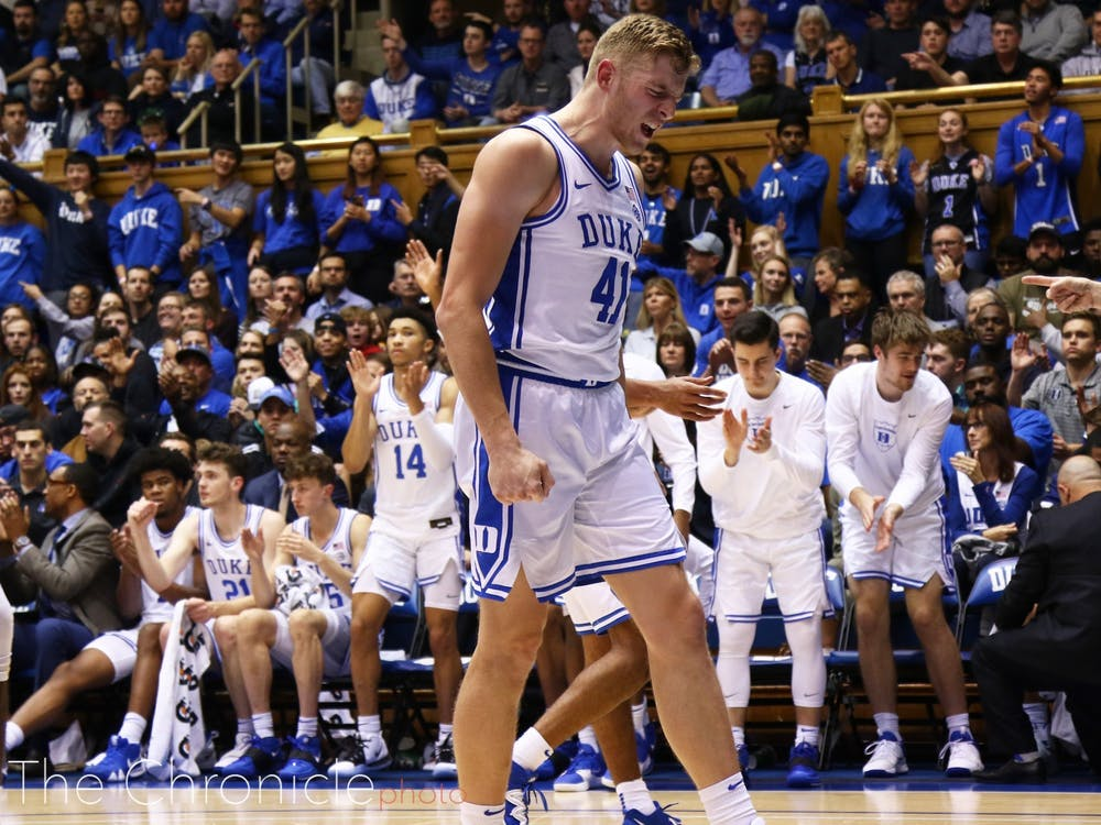 <p>Without Wendell Moore, White will have a tough task guarding Jordan Nwora.</p>