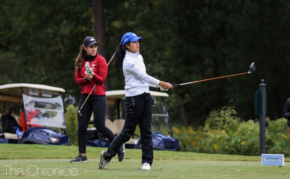 <p>Each of Duke's golfers turned in a solid performance this weekend.</p>