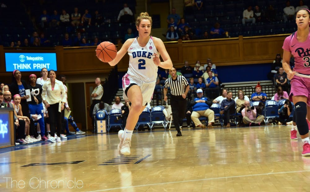 <p>Haley Gorecki dropped a triple-double on the Panthers Sunday.</p>