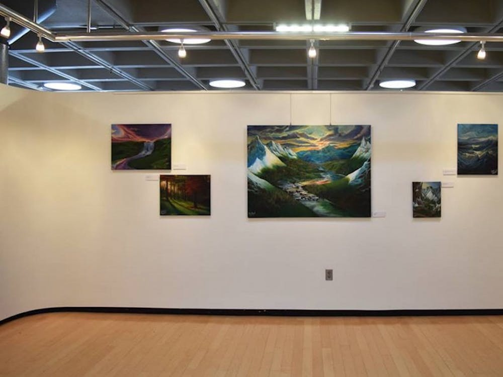 """Senior Kelsey Graywill's exhibit """"Makings of a Mind"""" ran in the Bryan Center's Brown Gallery through March 12."""