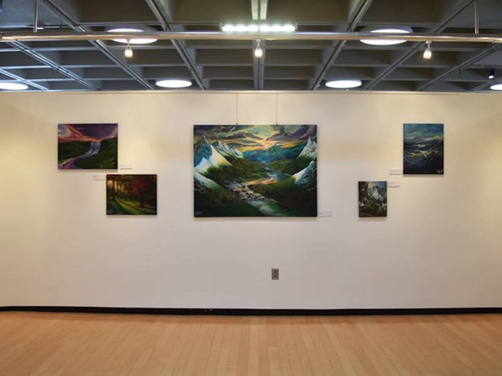 "Senior Kelsey Graywill's exhibit ""Makings of a Mind"" ran in the Bryan Center's Brown Gallery through March 12."