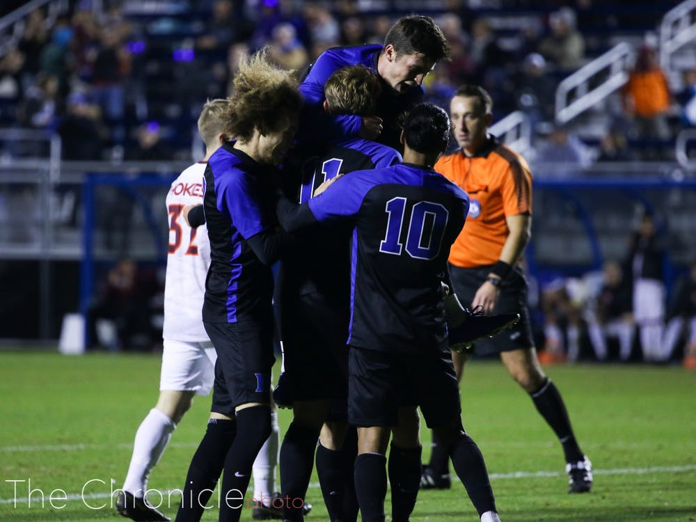 <p>Duke's seniors will have many memories from their time together at Koskinen Stadium.</p>