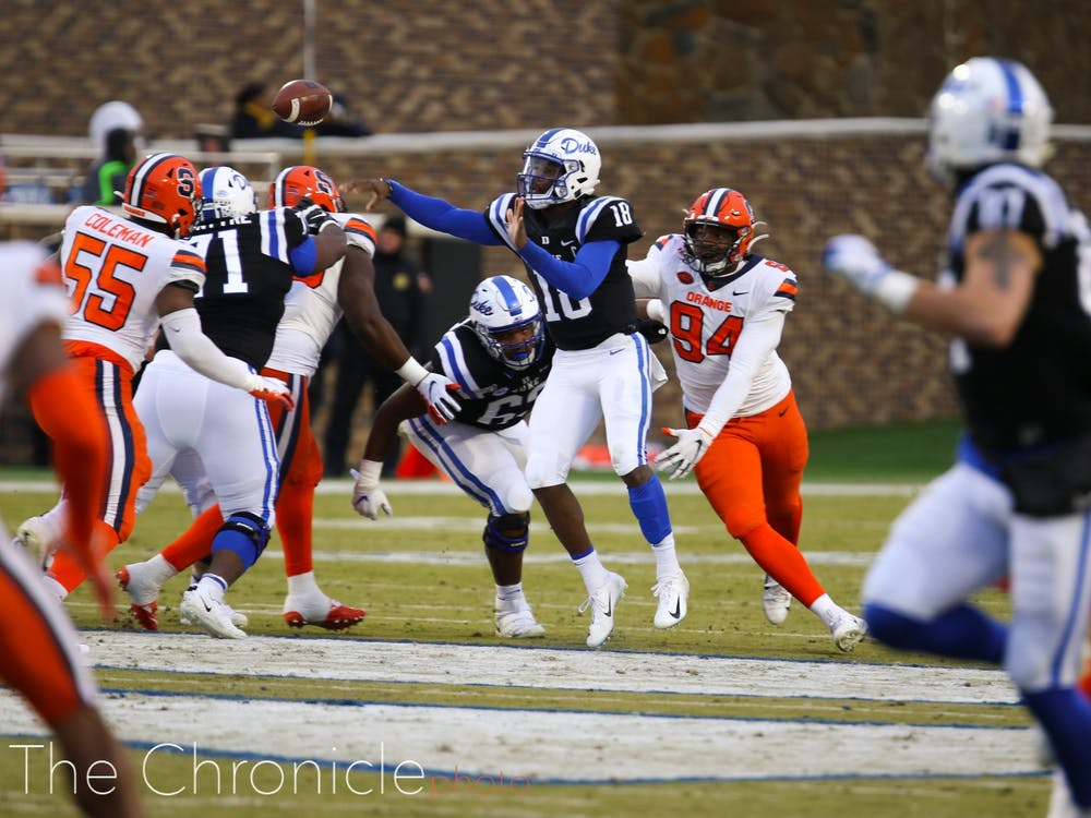 Duke's offense could not put together consistent drives against a subpar Orange defense.