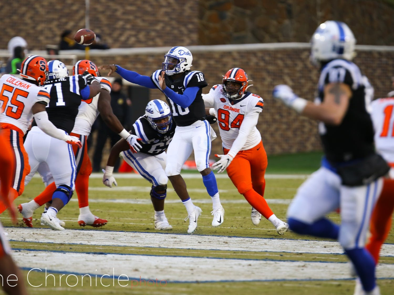 Duke's offense could not put together consistent drives against a subpar Orange defense.