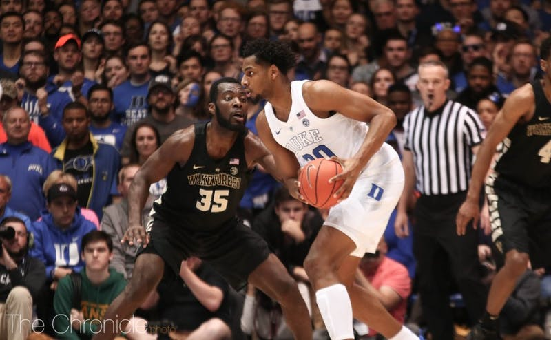 Marques Bolden will be called upon to slow down Luke Maye in the paint.