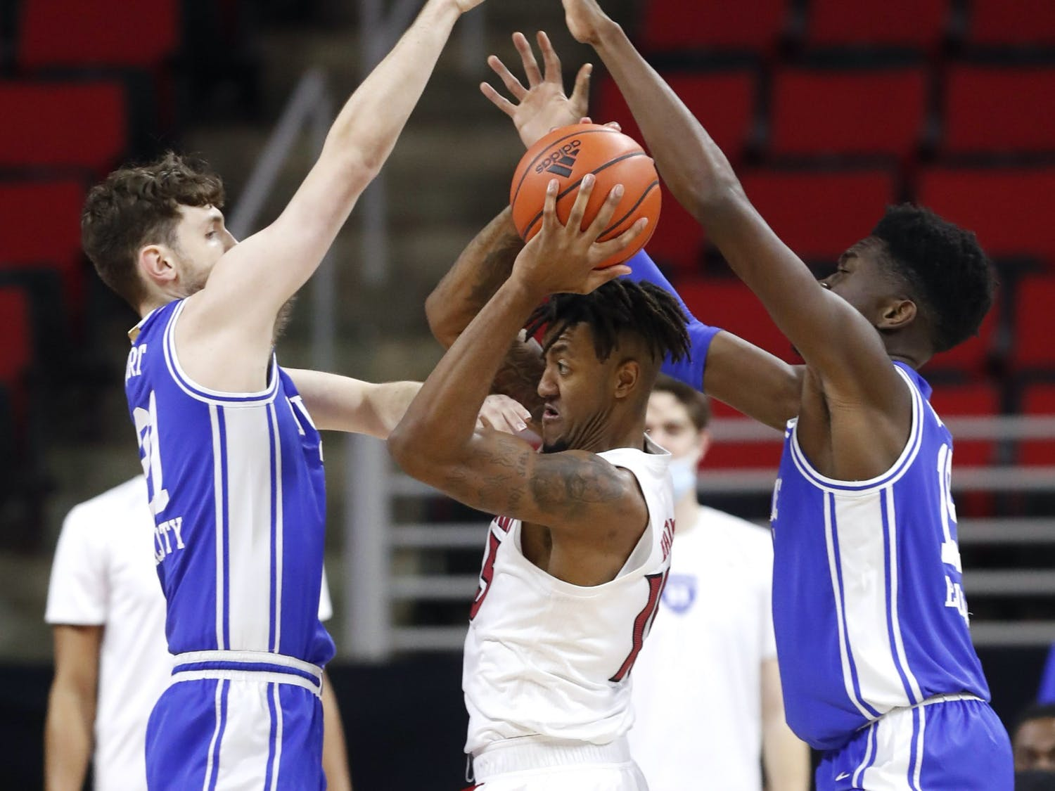 Matthew Hurt (left) and Mark Williams (right) may prove to be the one-two punch Duke needs to sneak its way into the NCAA tournament.