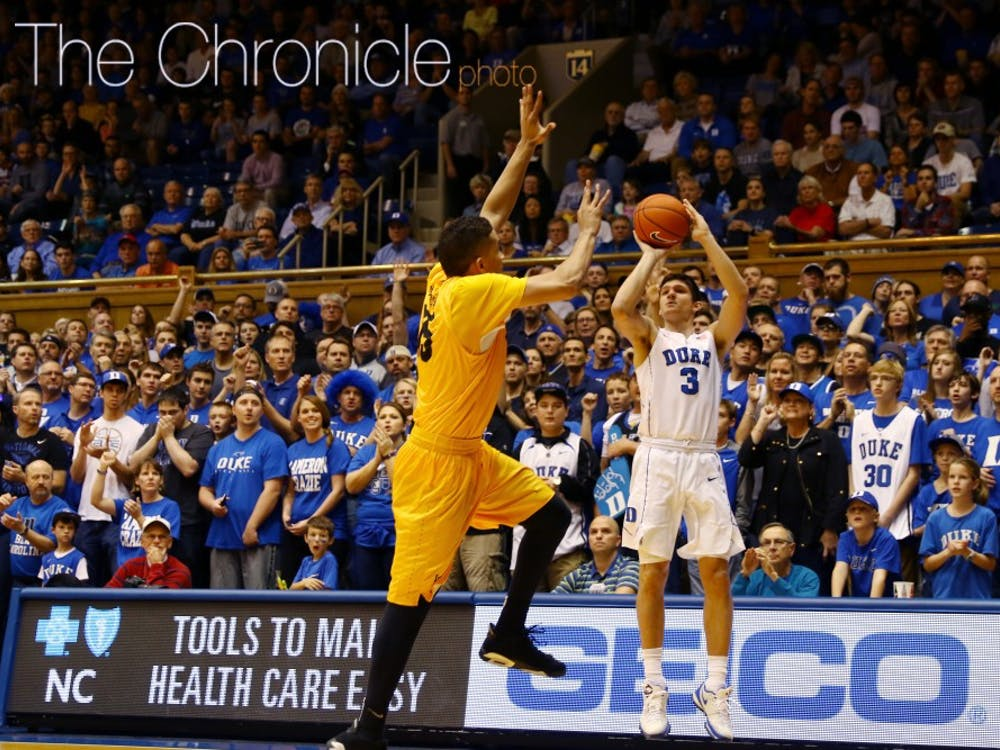 Sophomore Grayson Allen scored 24 points in the second half, knocking down a 3-pointer late in the period to give him a new career-high of 33 points.