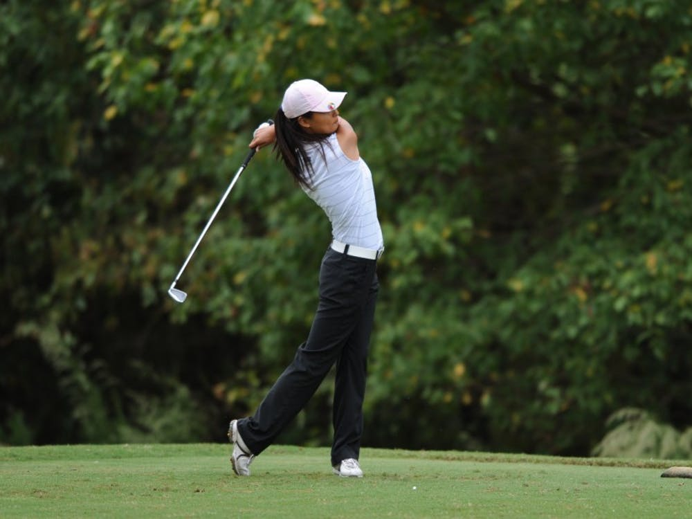Sophomore Sandy Choi battled the tough Concession Golf Course in stroke play and will look to make adjustments entering match play Tuesday.