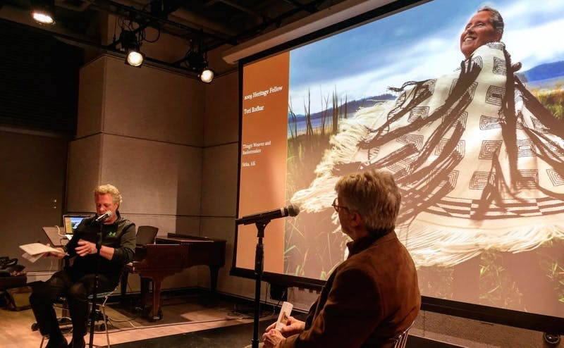Barry Berger, former director of folk and traditional arts for the National Endowment of the Arts, and photographer discuss their work at the kickoff event for the documentary initiative.