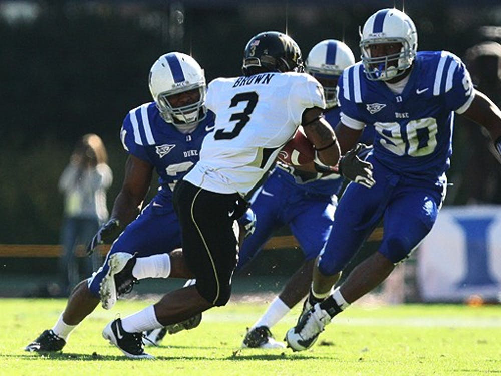 Duke's secondary was torched by the Wake Forest offense through the air and on the ground, giving up 38 points to the potent Demon Deacon attack.