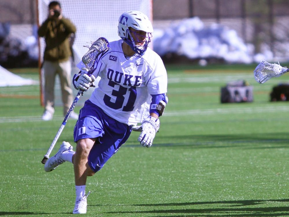 Senior attack Jordan Wolf notched two more goals, but a 26-minute scoreless drought was Duke's downfall in a loss to Maryland.