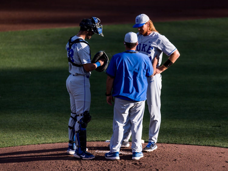 Junior pitcher Cooper Stinson was hit hard in Monday's loss to North Carolina.