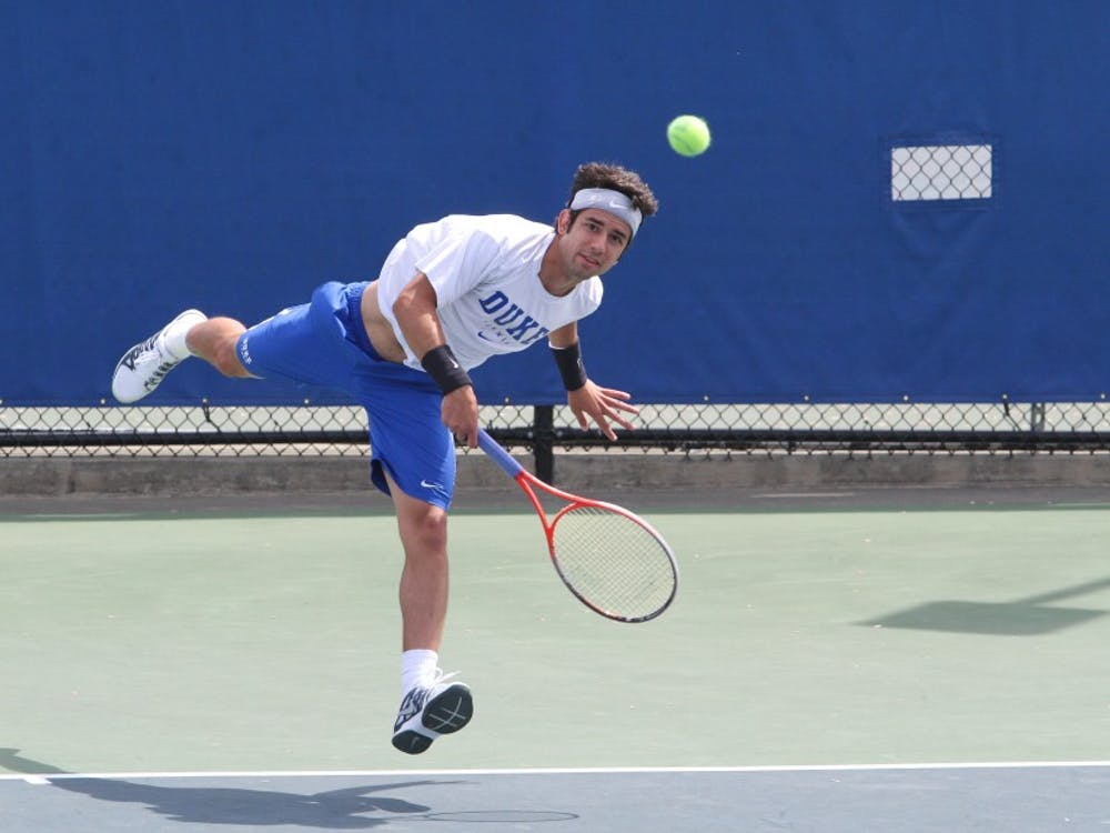 Bruno Semenzato notched the only victory of the day for Duke as the Blue Devils fell to rival North Carolina in the ACC Championship semifinals.