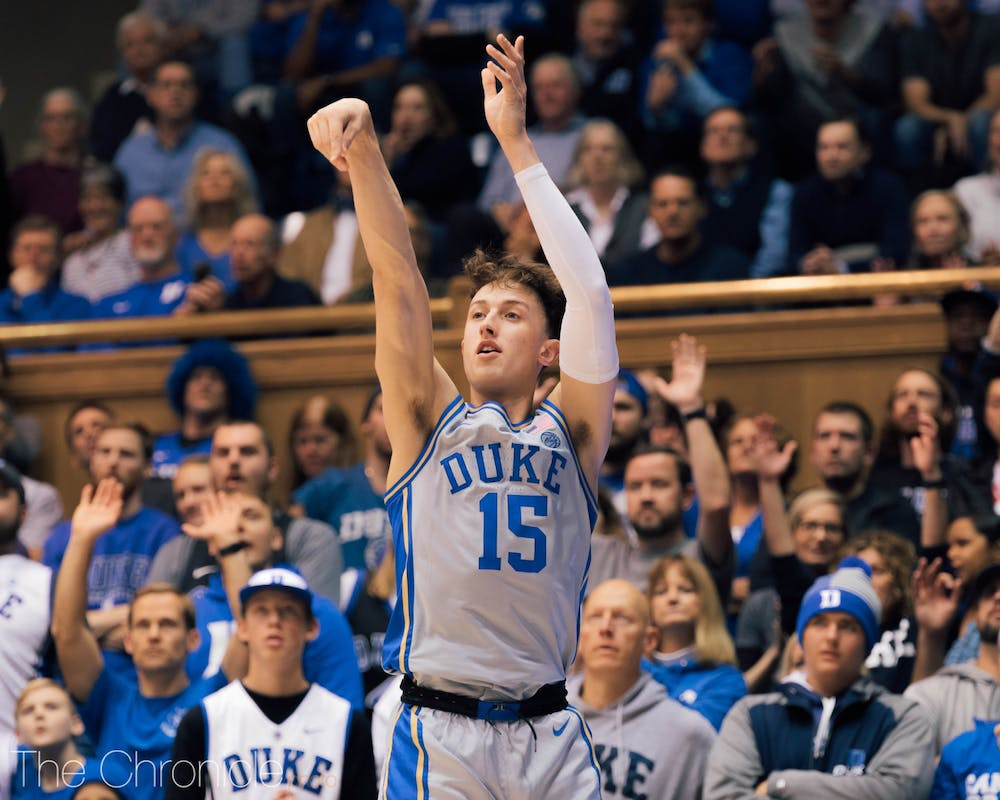 <p>Alex O'Connell is among the Blue Devils shouldering the scoring load this season.</p>