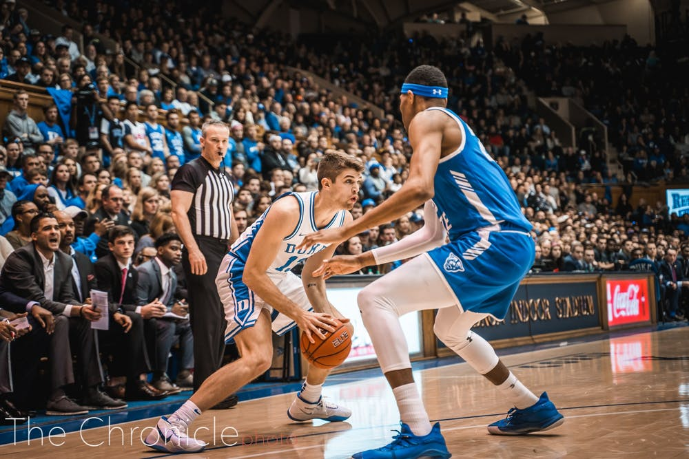 <p>Joey Baker had a career-high eight points, though his biggest moment came on his electrifying floor slap in the second half.</p>