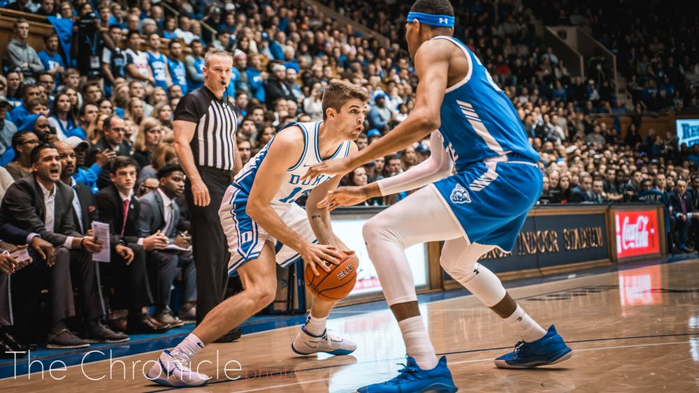 Joey Baker had a career-high eight points, though his biggest moment came on his electrifying floor slap in the second half.