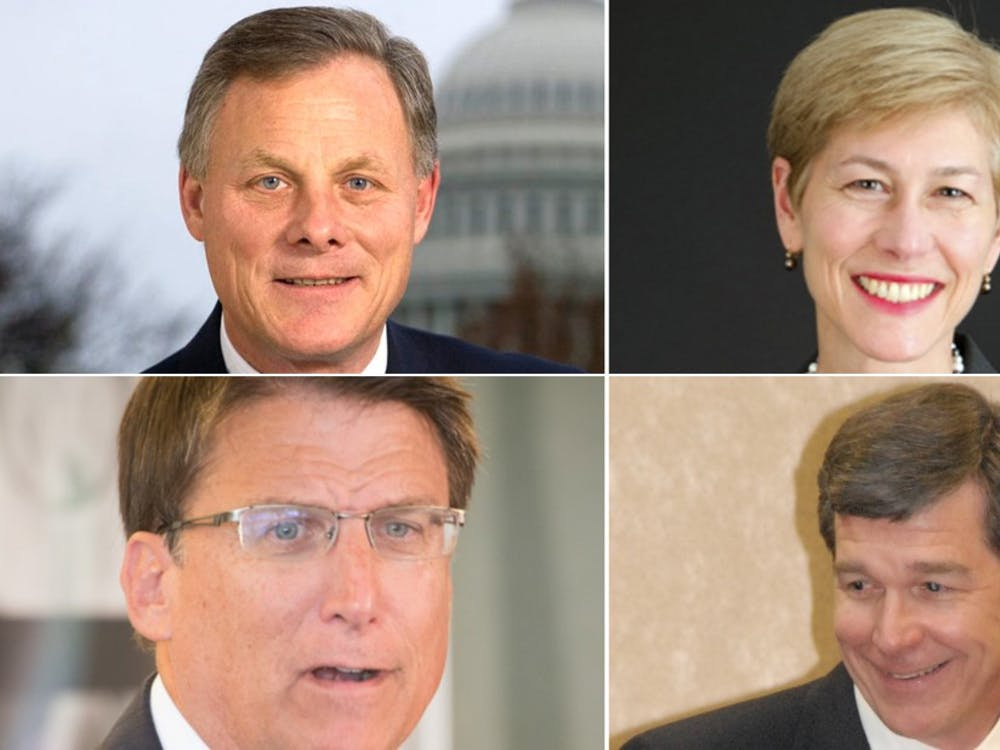 Republican Richard Burr is running against Democrat Deborah Ross for the United States Senate, while incumbent Republican Gov. Pat McCrory is running for re-election against Democrat Roy Cooper.
