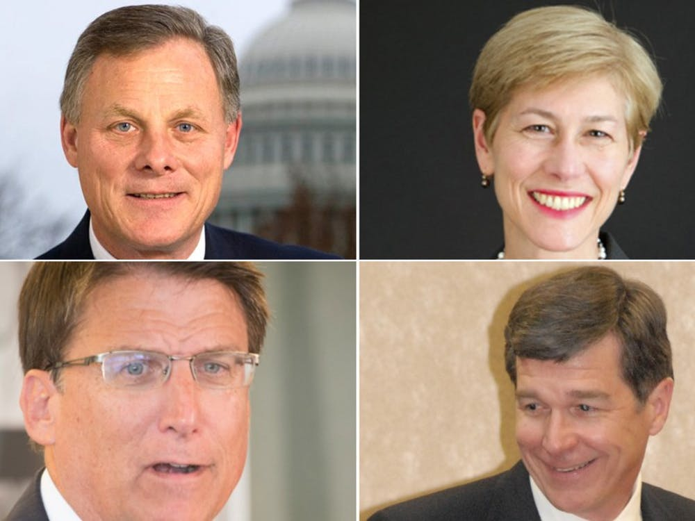 Republican Richard Burr is running against Democrat Deborah Ross for the United States Senate, while incumbent Republican Gov. Pat McCrory is running for re-election against Democrat Roy Cooper.