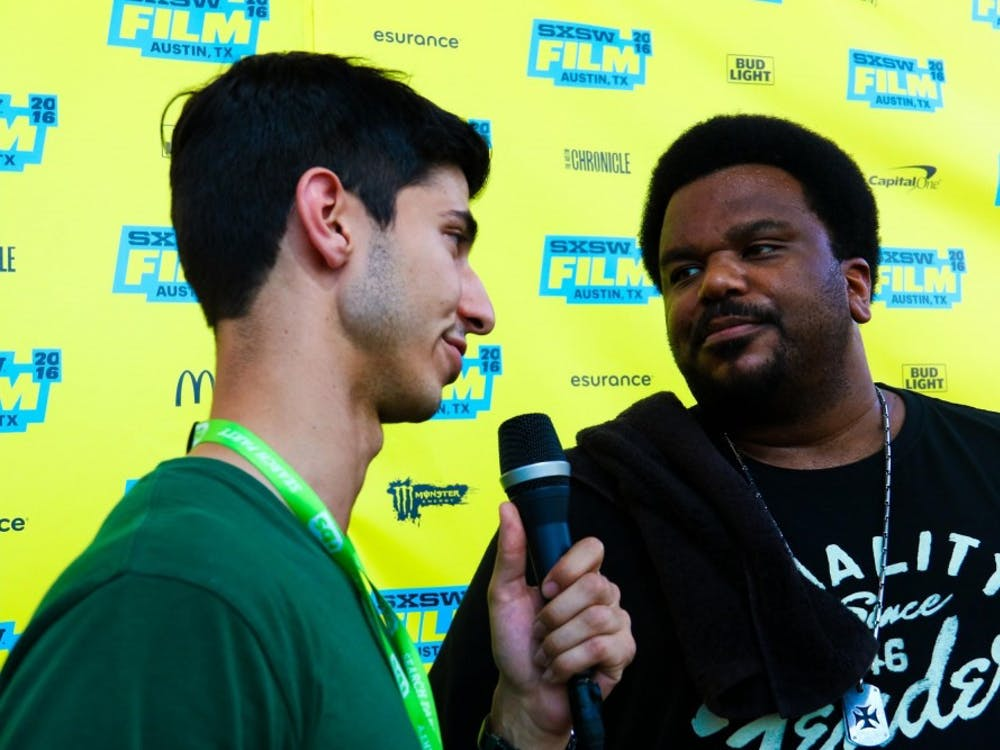 """Reporter Aditya Joshi interviews Craig Robinson known for his role in """"The Office""""at SXSW."""