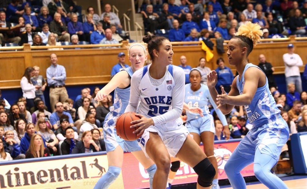 <p>Jade Williams was dominant on the interior for Duke Saturday.</p>