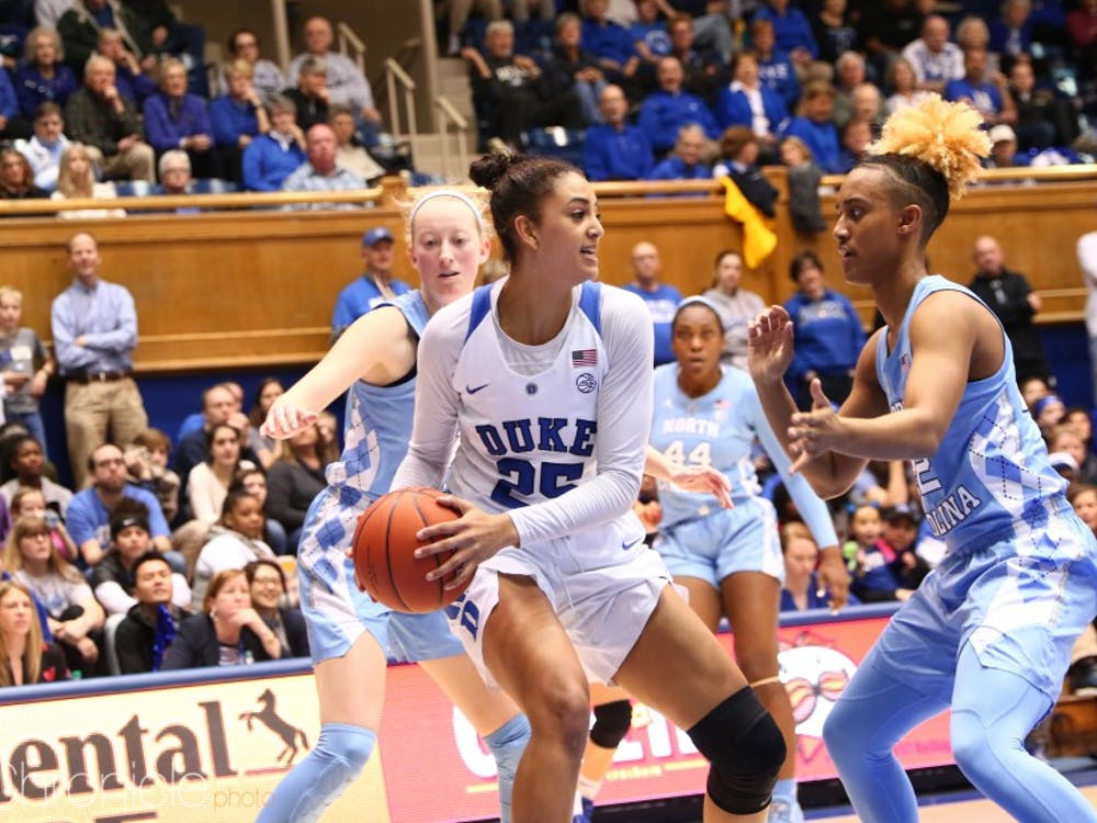 Jade Williams was dominant on the interior for Duke Saturday.