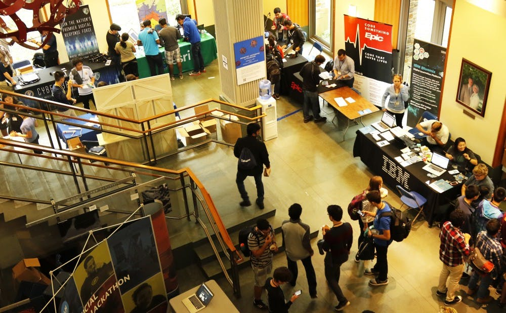 <p>Teams of students from across the country gathered this weekend for the third annual HackDuke technology competition.</p>