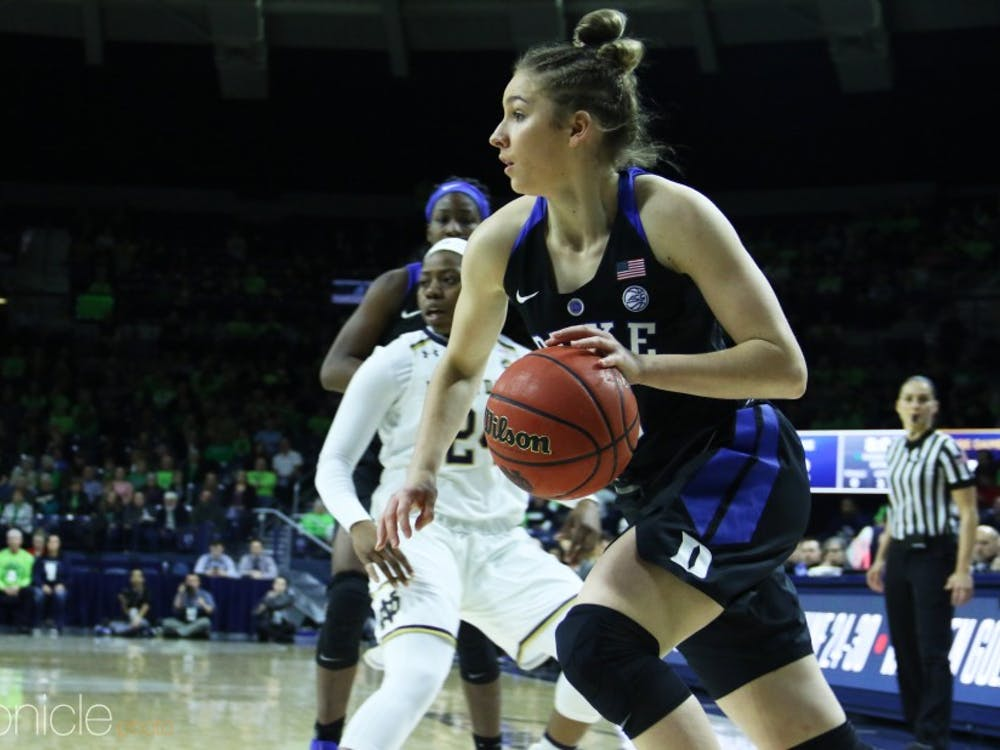 Miela Goodchild's career-high performance not enough for Duke.