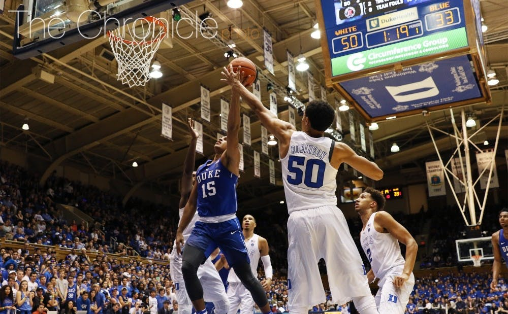 <p>Robinson played without a scholarship last season, but just earned his second in three years at Duke.&nbsp;</p>