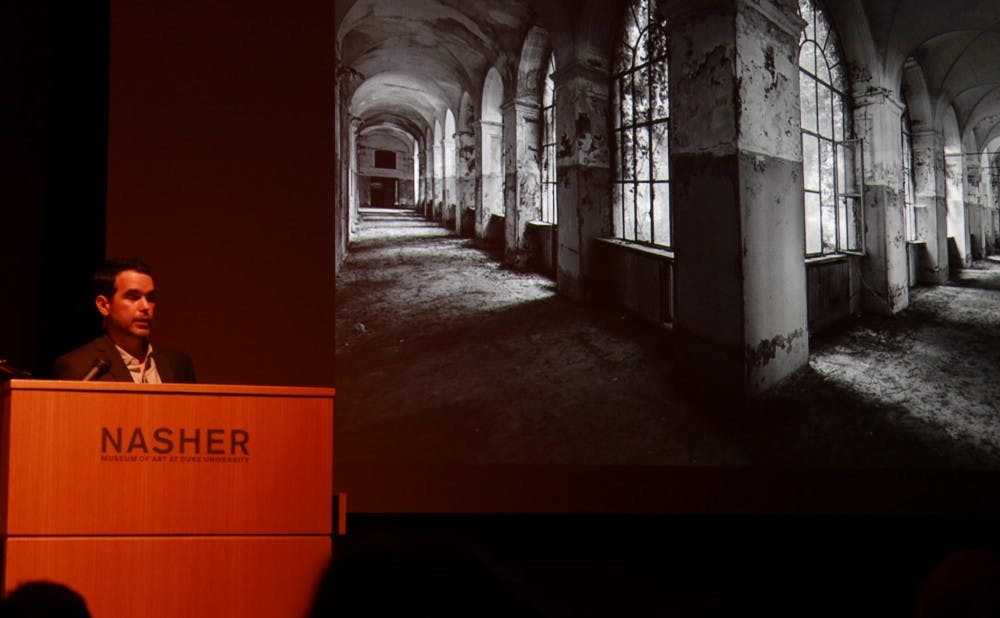 "<p>Self-described ""transdisciplinary artist"" Dario Robleto presented a lecture at the Nasher Museum of Art Feb. 1.</p>"