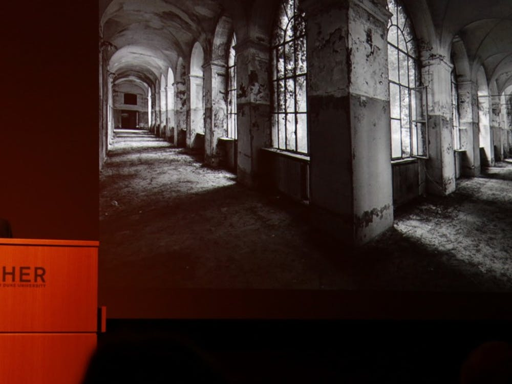 """Self-described """"transdisciplinary artist"""" Dario Robleto presented a lecture at the Nasher Museum of Art Feb. 1."""