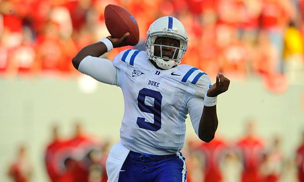 Quarterback Thaddeus Lewis's big day against N.C. State added a new game ball to David Cutcliffe's office.