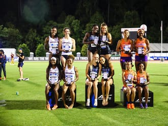 The women's 4x400 relay team took home gold Saturday.