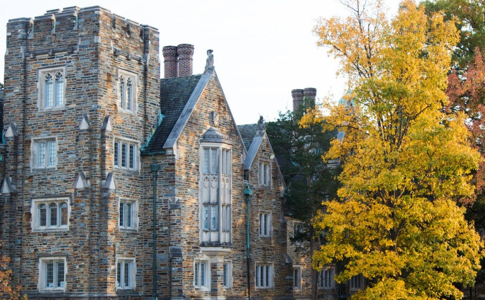 <p>Changing leaves provide a colorful view for the residents of Kilgo Quad.</p>